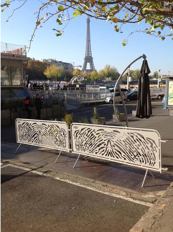 création de barrières en acier originales