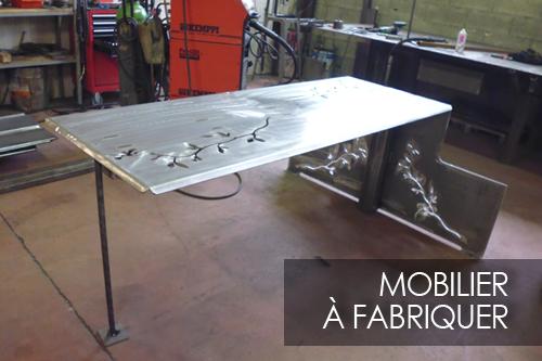création d'une table en acier